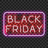BLACK FRIDAY neon sign in frame Stock Images