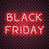BLACK FRIDAY neon sign Royalty Free Stock Photo