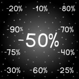 Black Friday New Year holidays sales stock illustration