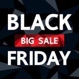 Black Friday no fundo preto Imagens de Stock