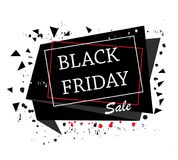 Black friday. Banner, template background Stock Image