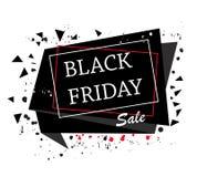 Black friday. Banner, template background. Black Friday 2017, November 24th. Abstract Banner, template with black sprinkles Stock Image