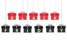 Black Friday Sale banner, template with gift box Stock Photography
