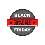 Black Friday 50 off icon, cartoon style Royalty Free Stock Image