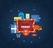 Black Friday, online shopping, payment methods, special offers and discounts. Stock Photo