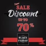 Black Friday-Ontwerp van de Verkoop het Vectorbanner Royalty-vrije Stock Foto