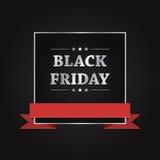 Black Friday-Ontwerp van de Verkoop het Vectorbanner Royalty-vrije Stock Fotografie