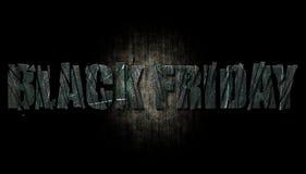 Black Friday op Metaaltextuur stock afbeelding