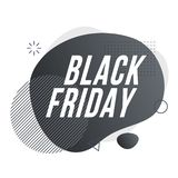 Black Friday. Organic design of liquid color abstract geometric shapes. stock illustration