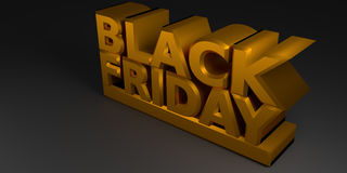 Black Friday in oro Fotografia Stock Libera da Diritti