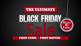 Black Friday Ostateczna sprzedaż no jest Opóźniona zdjęcie wideo
