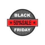 Black Friday 50 outre d'icône, style de bande dessinée Image libre de droits