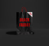 Black Friday paper bag. Stock Images