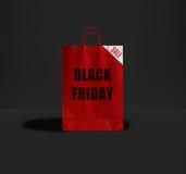 Black Friday paper bag. Royalty Free Stock Image