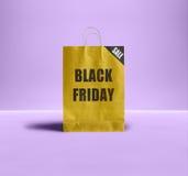 Black Friday paper bag. Royalty Free Stock Photos
