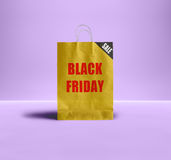 Black Friday paper bag. Royalty Free Stock Images