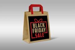 Black Friday Paper Shopping Bag Stock Photos
