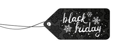 Black friday paper tag Stock Photography
