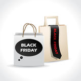 Black friday paperbags on white background Royalty Free Stock Images