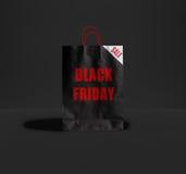 Black Friday papierowa torba Obrazy Stock