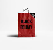 Black Friday pappers- påse Royaltyfri Bild