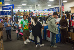 Black Friday. People shopping in a Best Buy store during Black Friday , Mcallen, Texas Royalty Free Stock Images