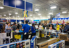 Black Friday. People shopping in a Best Buy store during Black Friday , Mcallen, Texas stock photo