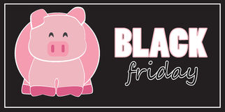 Black Friday pig bank Stock Photo