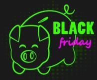 Black Friday pig bank Stock Image