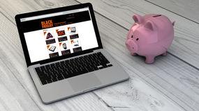 Black friday and piggybank Royalty Free Stock Images