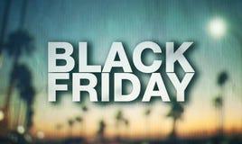 Black Friday plakat Zdjęcia Royalty Free