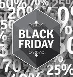 Black Friday-Plakat Stockbild