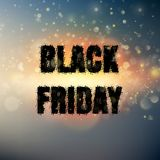 Black Friday-Plakat mit bokeh Lichtern Vektor ENV 10 Stockbild