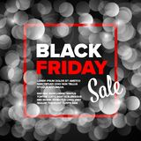 Black Friday-Plakatfliegerschablone stockfoto