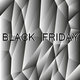Black friday polygon background Royalty Free Stock Photos