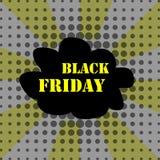 Black friday pop art banner vector Royalty Free Stock Photo