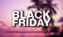 Black friday poster. Royalty Free Stock Photography