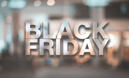 Black friday poster. Stock Image