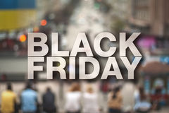 Black friday poster. Royalty Free Stock Image