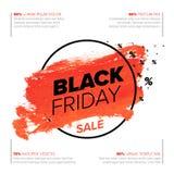 Black Friday poster flyer template stock illustration