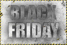 Black friday poster in grunge style Royalty Free Stock Image