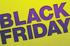 Black friday poster stock image