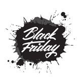Black Friday Poster with Rubber Stamp On White Background. Black Friday Grunge Rubber Stamp On White Background Vector Illustration Royalty Free Stock Image