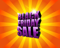 Black friday poster Stock Photography
