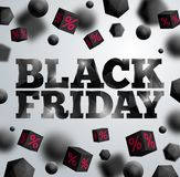 Black Friday poster. Stock Photography