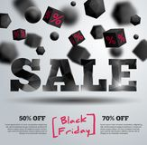 Black Friday poster Royalty Free Stock Photos