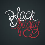 Black Friday. Poster Vector Illustration. Hand Lettered Text with Shadows on a  Dark Background Royalty Free Stock Images