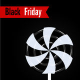 Black friday poster Vector illustration Stock Images