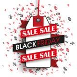Black Friday Price Sticker Ribbon Percents Royalty Free Stock Photography