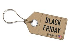 Black Friday - price tag Stock Photography